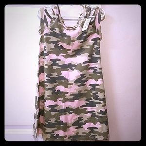 (NWT) The Children's Place pink camouflage Dress